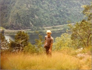 Tom hiking Mt. Tammany, 1981.