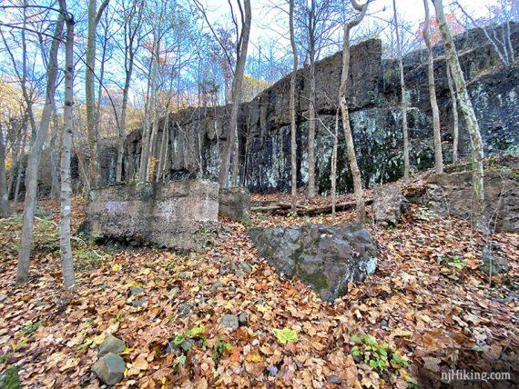 Cliffs along the Green Brook