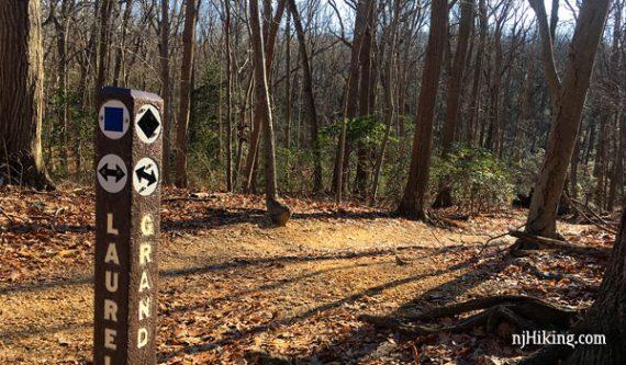 Trail marker post