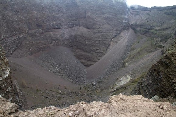 View into the crate of Mt. Vesuvius