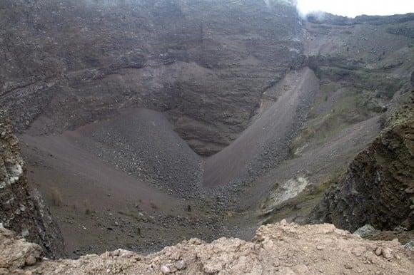 View into the crate of Mt. Vesuvius