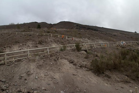 Steep switchbacks at the start of the hike