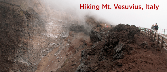 Hiking Mt. Vesuvius, Italy