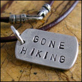 gone hiking necklace