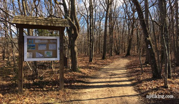 Tamarack Hollow Preserve trailhead sign