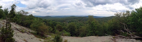 Panorama from Overlook Rock, Norvin Green S.F.