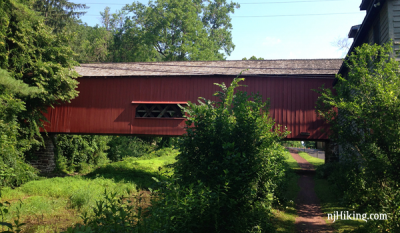 Uhlerstown Covered Bridge on the D&L Canal path
