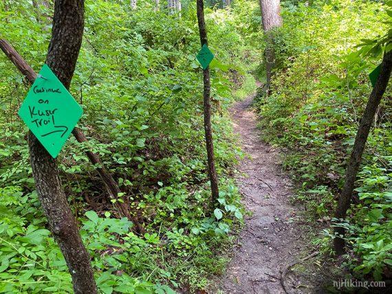 Kuser Trail junction