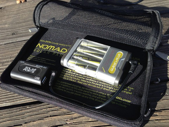 Nomad solar panel pocket and batteries