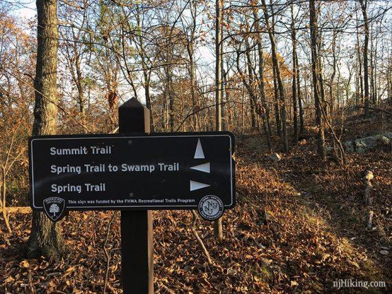 Spring Trail marker