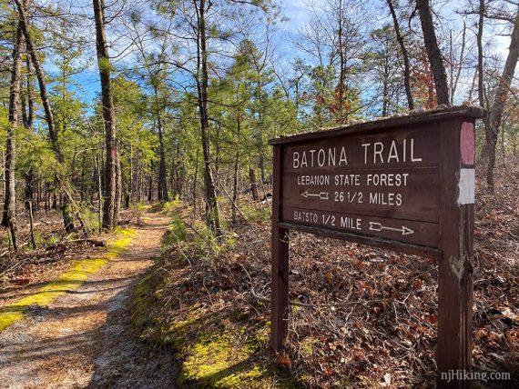 Batona trail sign