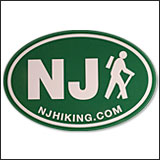 NJ Hiking Sticker
