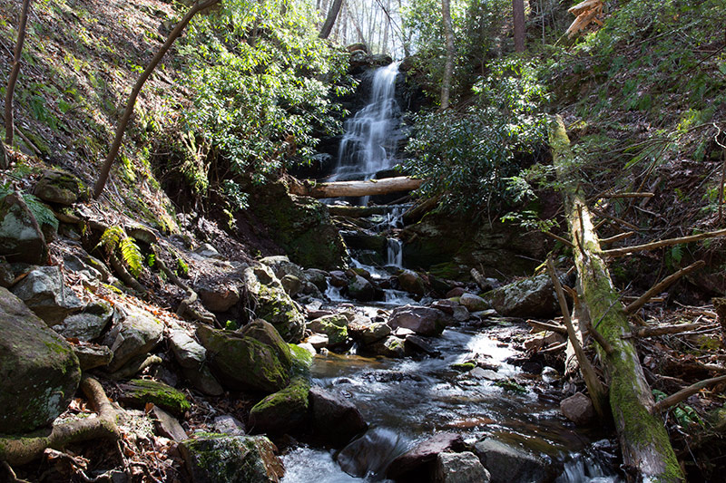 Silver Spray Falls also known as Hidden Falls - Sussex County