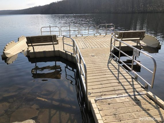 Splitrock floating kayak launch