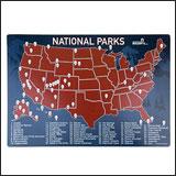 Parks Map Fridge Magnet