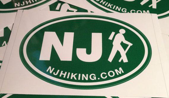 NJ Hiking Sticker