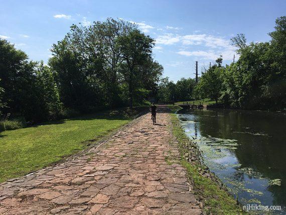 Crossing a spillway