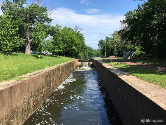 5 Mile Lock, looking south