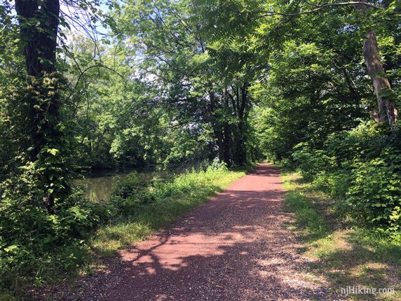 Red dirt of the D&R Canal Towpath