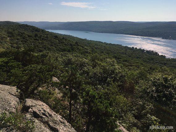 Greenwood lake from a ridge