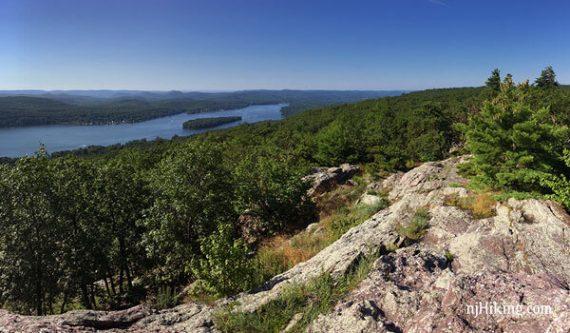 Greenwood Lake from ridge