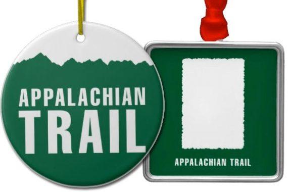 Tree ornament with Appalachian Trail designs