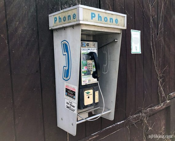Pay phone at the Round Valley pavillion