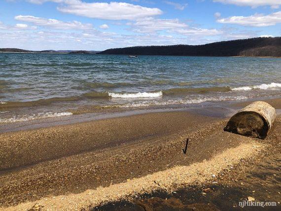 Round Valley gravel beach