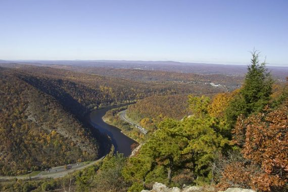 View of the Gap from the summit of Mt. Tammany