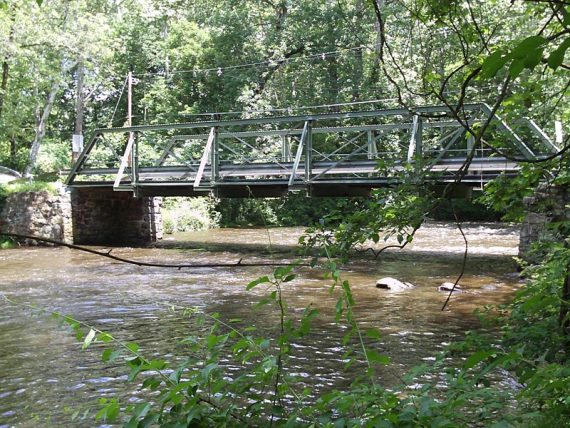 Point Mountain Road bridge over the Musconetcong River