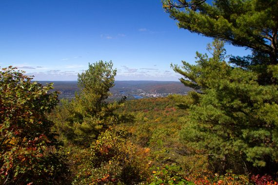 View of Port Jervis, PA from the Monument Trail