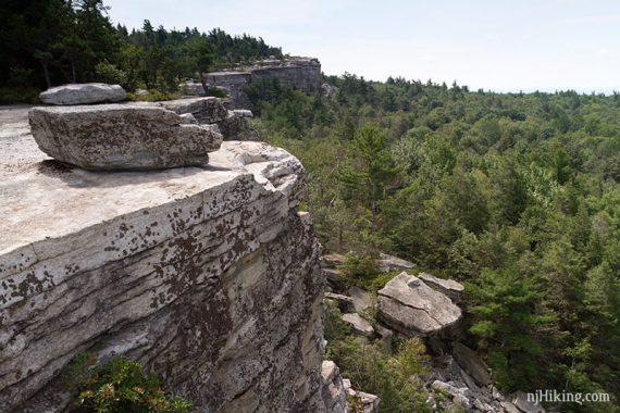Follow the cliff edges