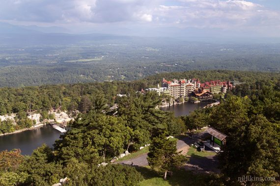 View of Mohonk Mountain House from Sky Top Tower