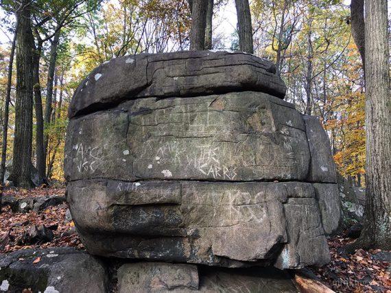Large boulder in Devil's Half Acre