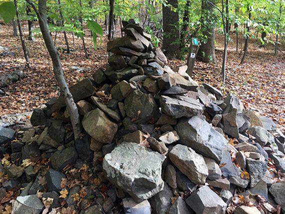 Huge cairn near Marker 7, Ridge Trail