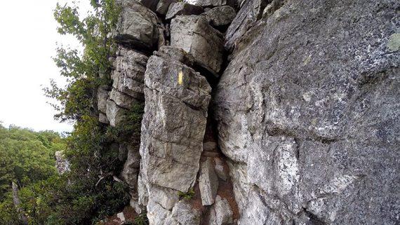 Bonticou Crag chimney