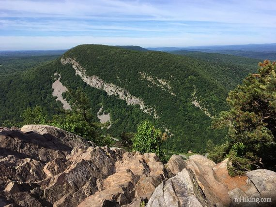 View of Mt. Minsi from the top of Mt. Tammany.