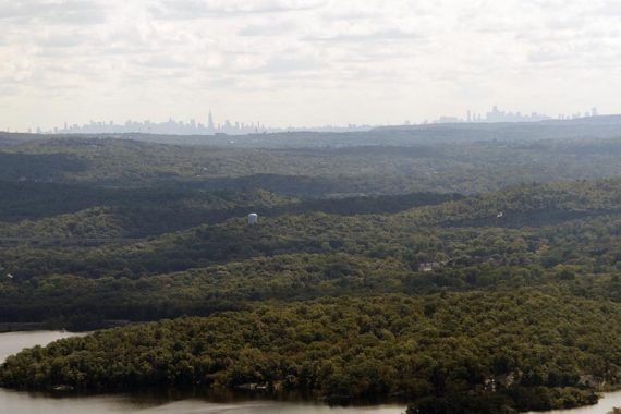 View of the NYC skyline from Wyanokie High Point