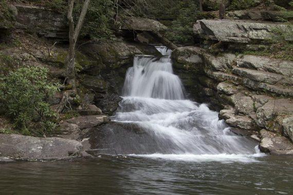 Van Campens Glen waterfall