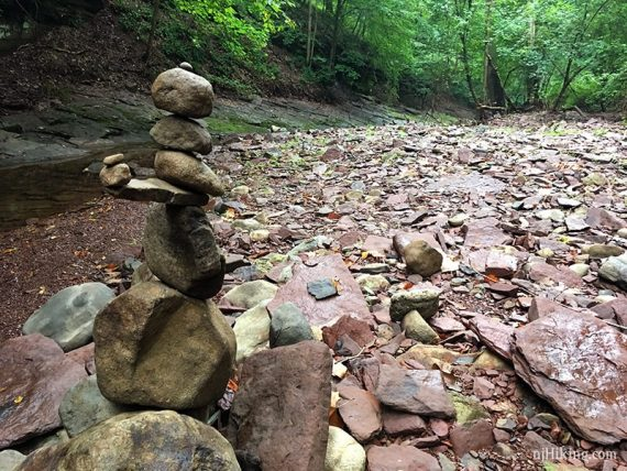 Someone stacked a cairn (pile-o-rocks)