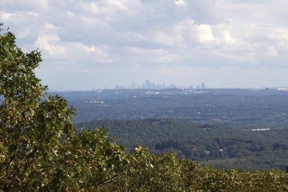 NYC skyline from Buck Mountain