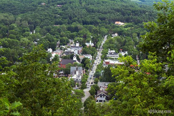 Zoom into the town of Milford, PA