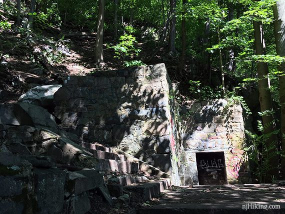 Ruins near the falls.