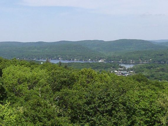 Greenwood lake seen in the distance