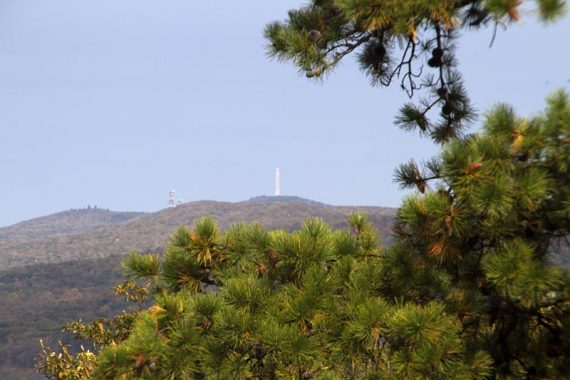 View of the High Point monument from Cartright