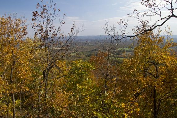 Partial view from a side trail off the Appalachian Trail