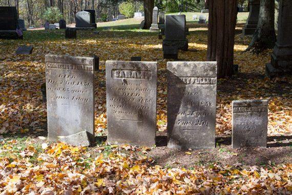 Gravestones in Wallpack Cemetary