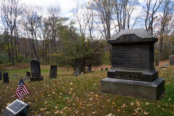 Tillman grave in Walpack Cemetery