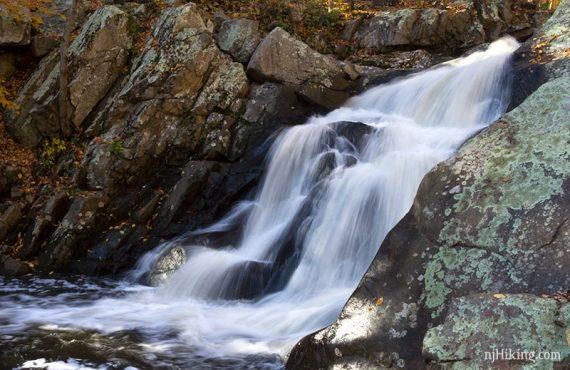 Waterfall flowing over rocks