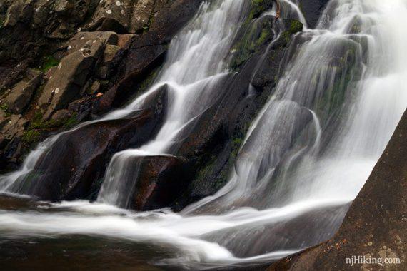 Close up of Schooley's Falls